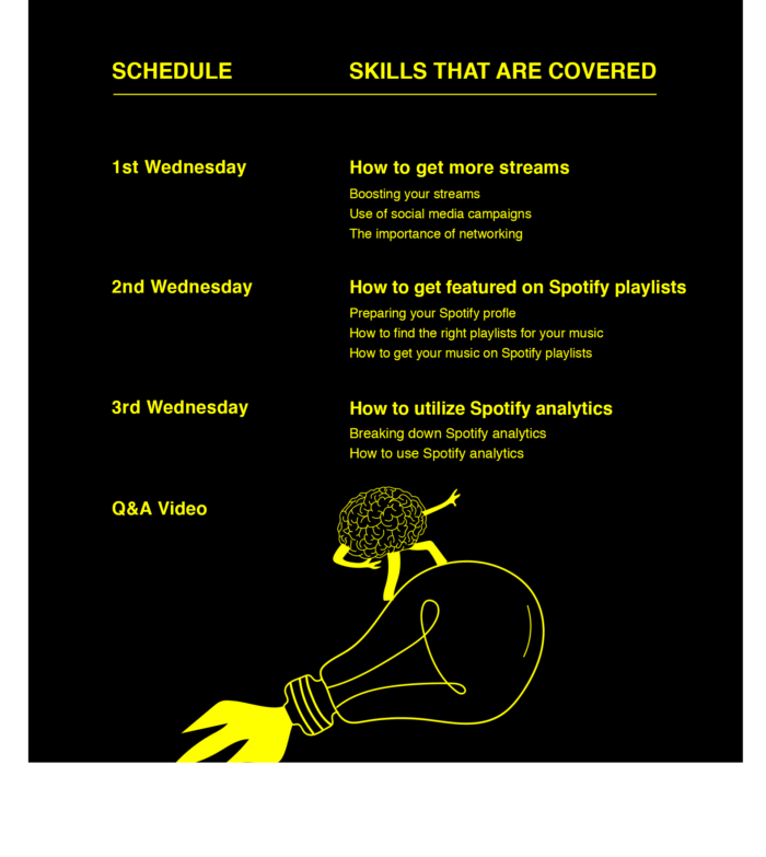 Schedule Spotify Advanced Course